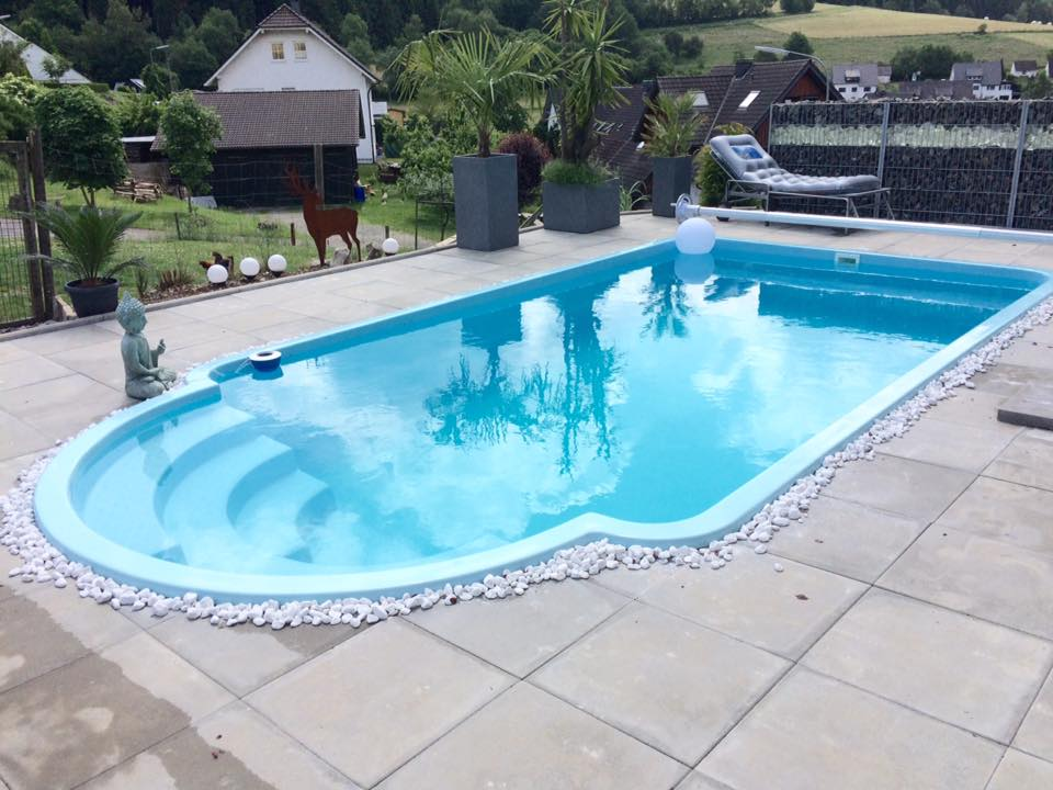 Zwembad Polyester Gebruikt.Polyester Zwembad Helios 630 X 325 X 155cm Carma Webshop