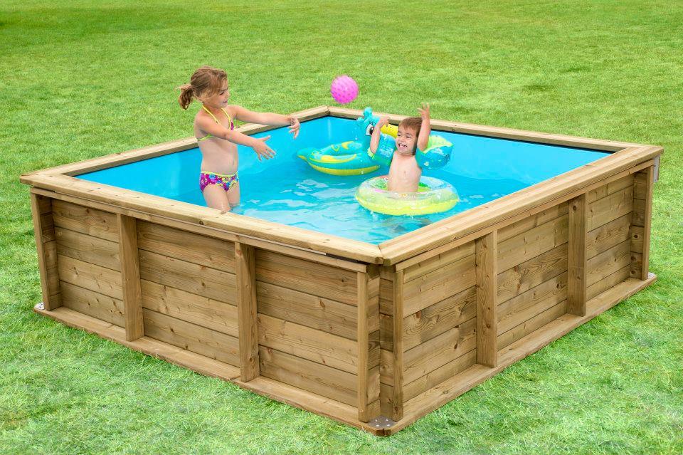 Aanbieding van de maand houten zwembad mini pool 2 00 for Mini zwembad